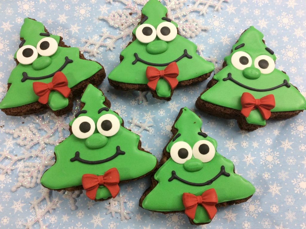 Crazy Christmas Tree Brownies