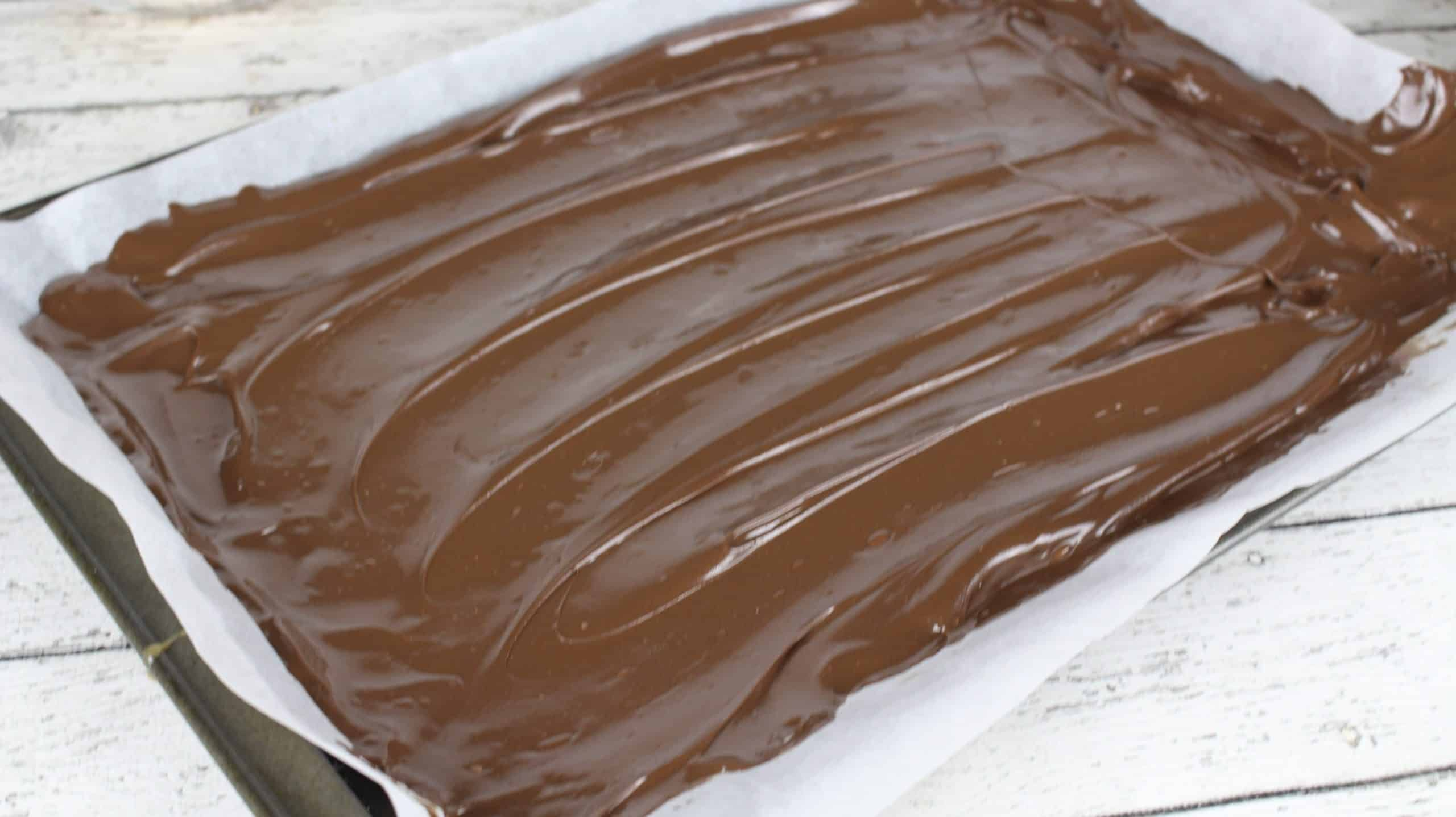 chocolate on sheet pan