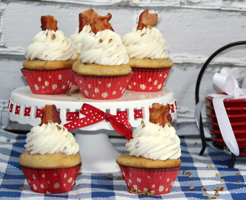 Butter Pecan Cupcakes with Maple Frosting