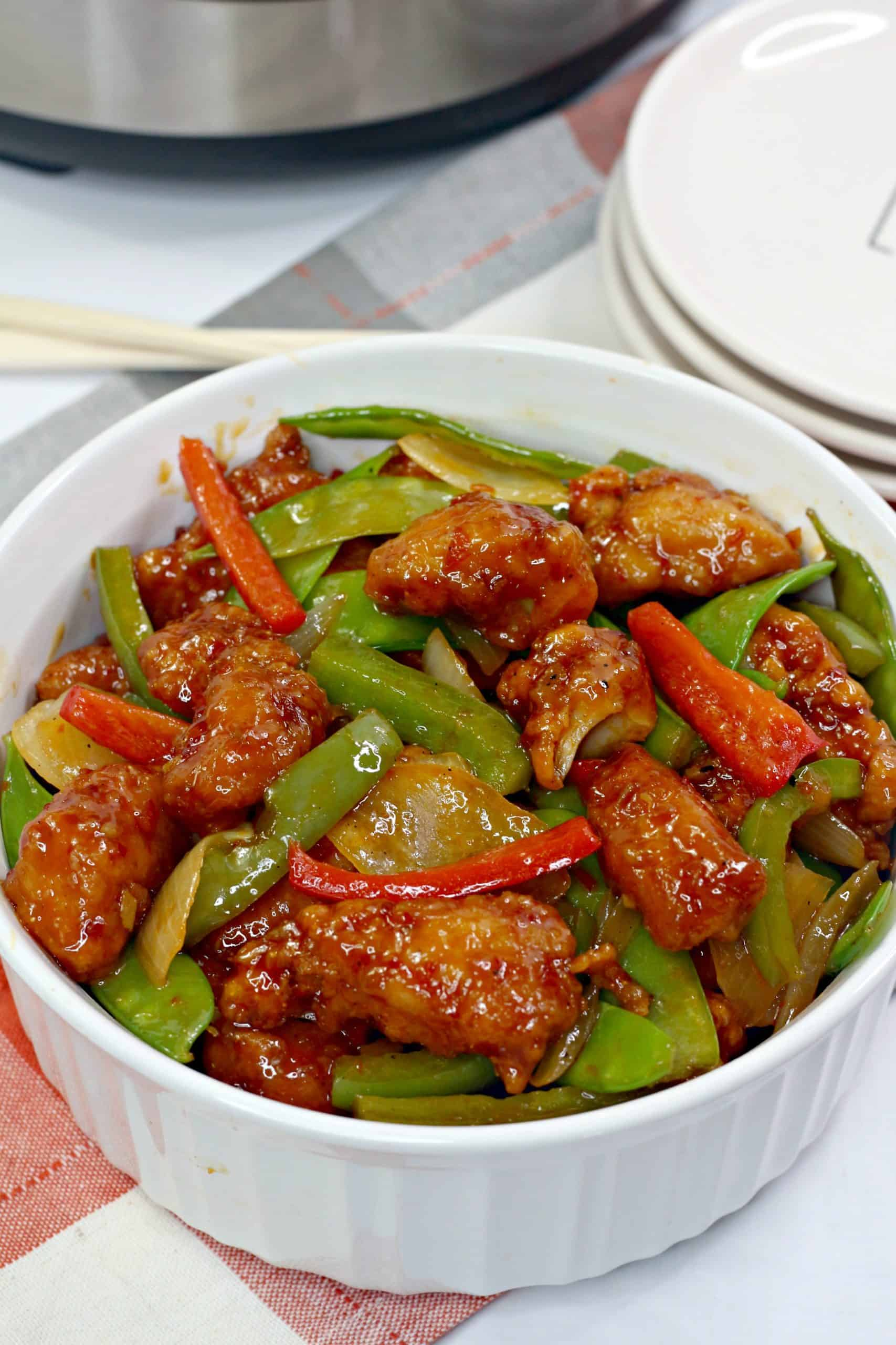 bowl of Chinese food