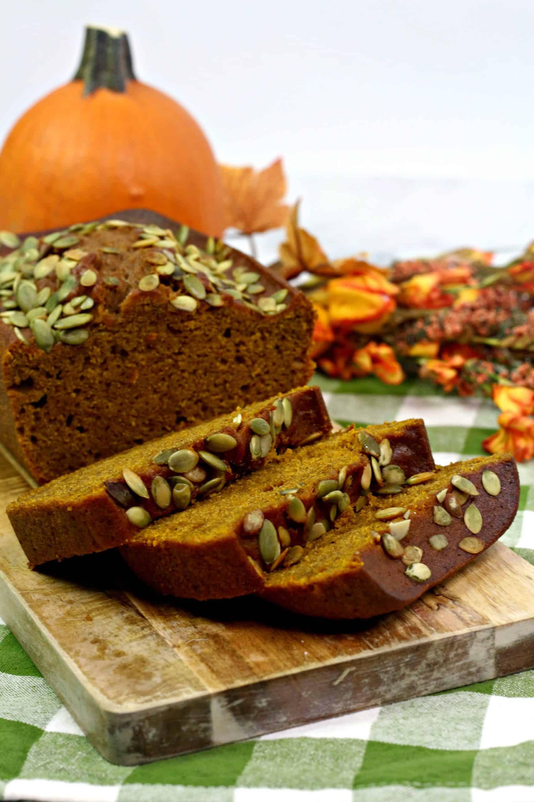 Pumpkin Loaf on table