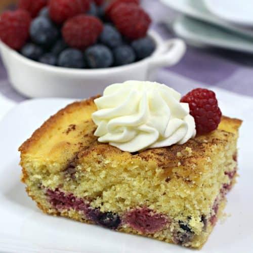 Berry Cornbread Cake