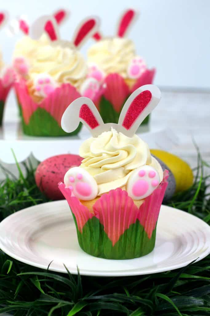 Bunny Ears and Feet Cupcake