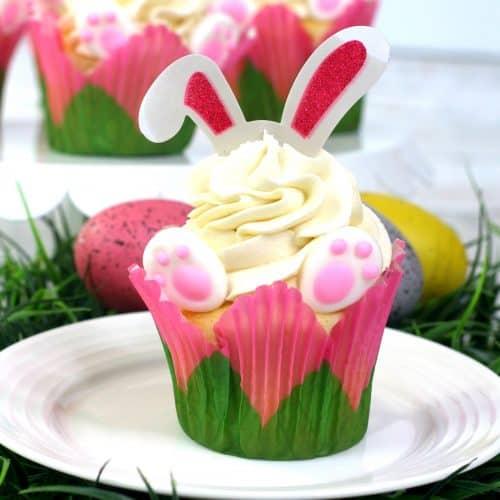 Bunny Ear Cupcakes