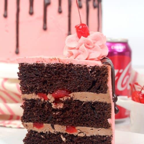 cherry cola cake slice