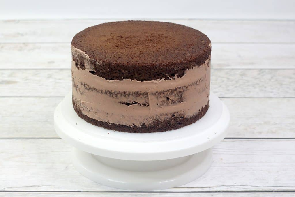 chocolate cherry cake stacked