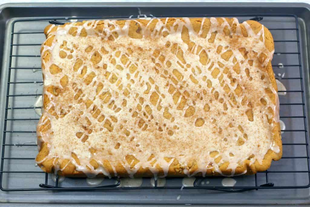 Honey Cinnamon Bars in pan