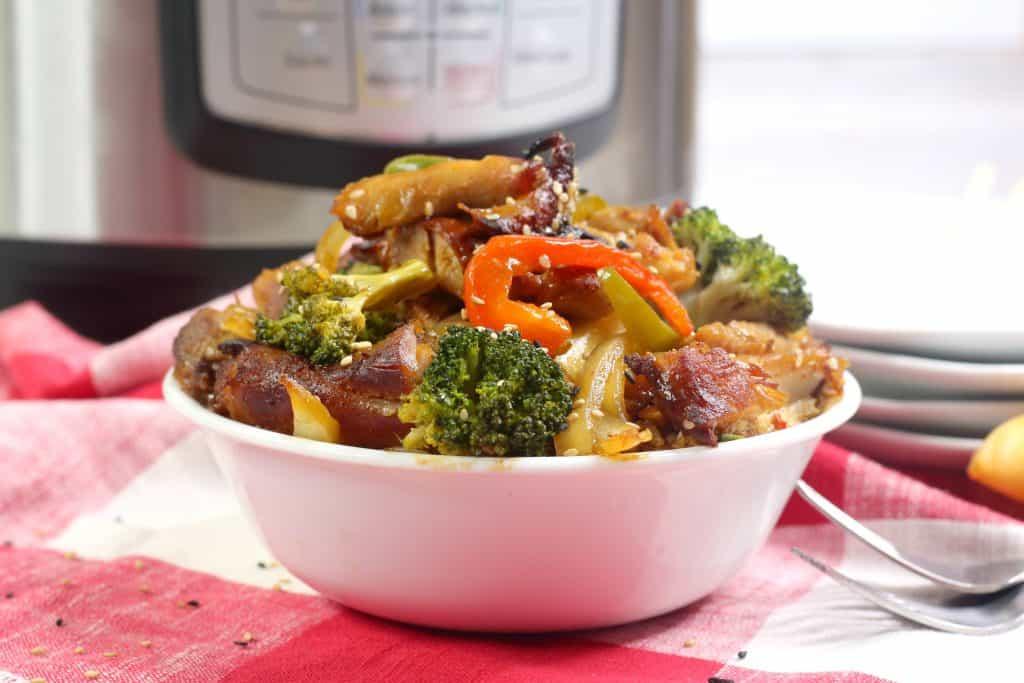 Bourbon Chicken with veggies