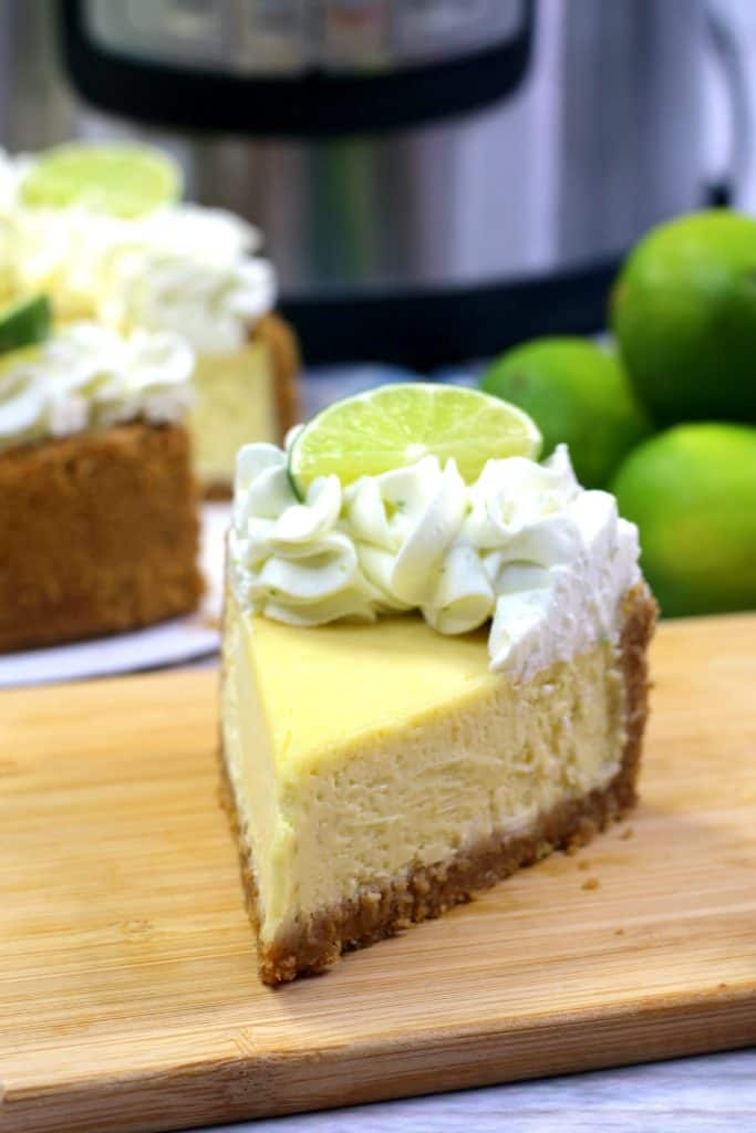 Key Lime Cheesecake Slice with Instant Pot