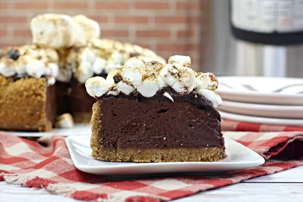Instant Pot Smore's Cheesecake Slice