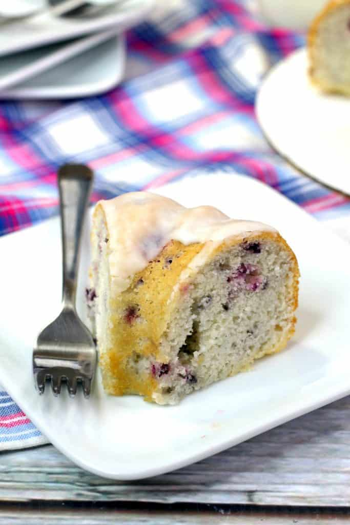 Blackberry Cake Slice