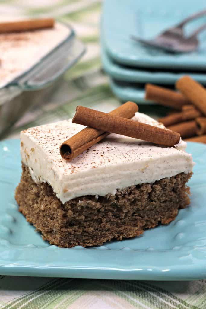 Cinnamon Depression Cake Slice