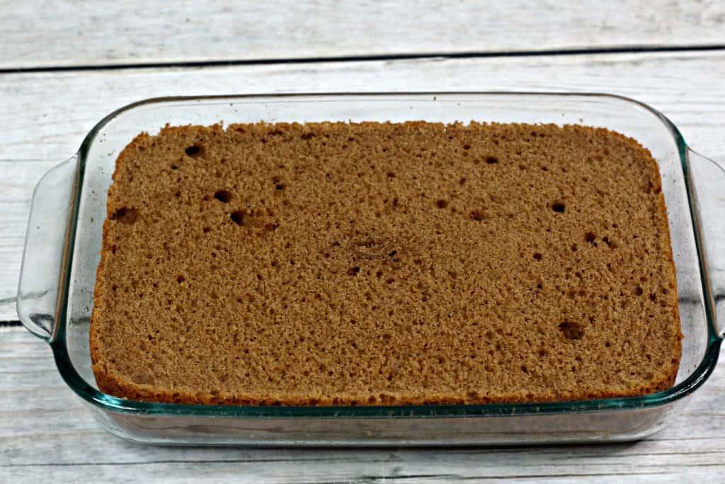 Cinnamon Wacky Cake Baked