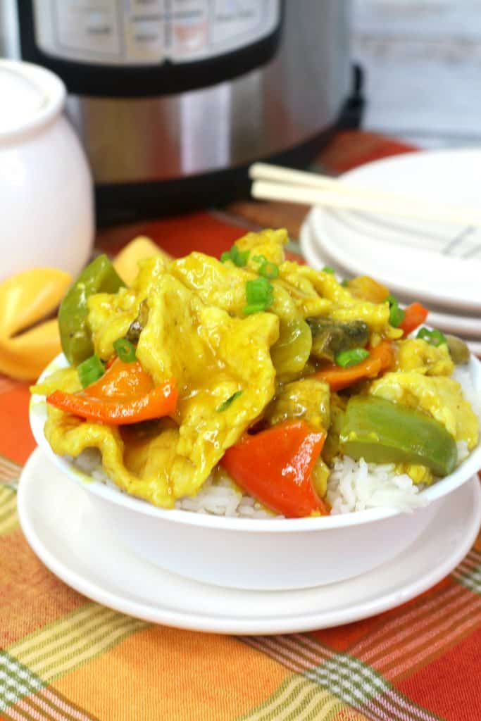 Chinese Curry Chicken with Rice