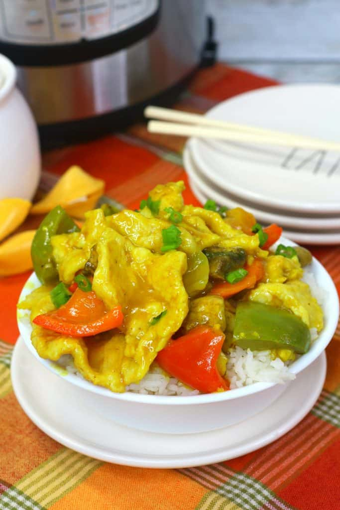 Chinese Curry Chicken with bell peppers