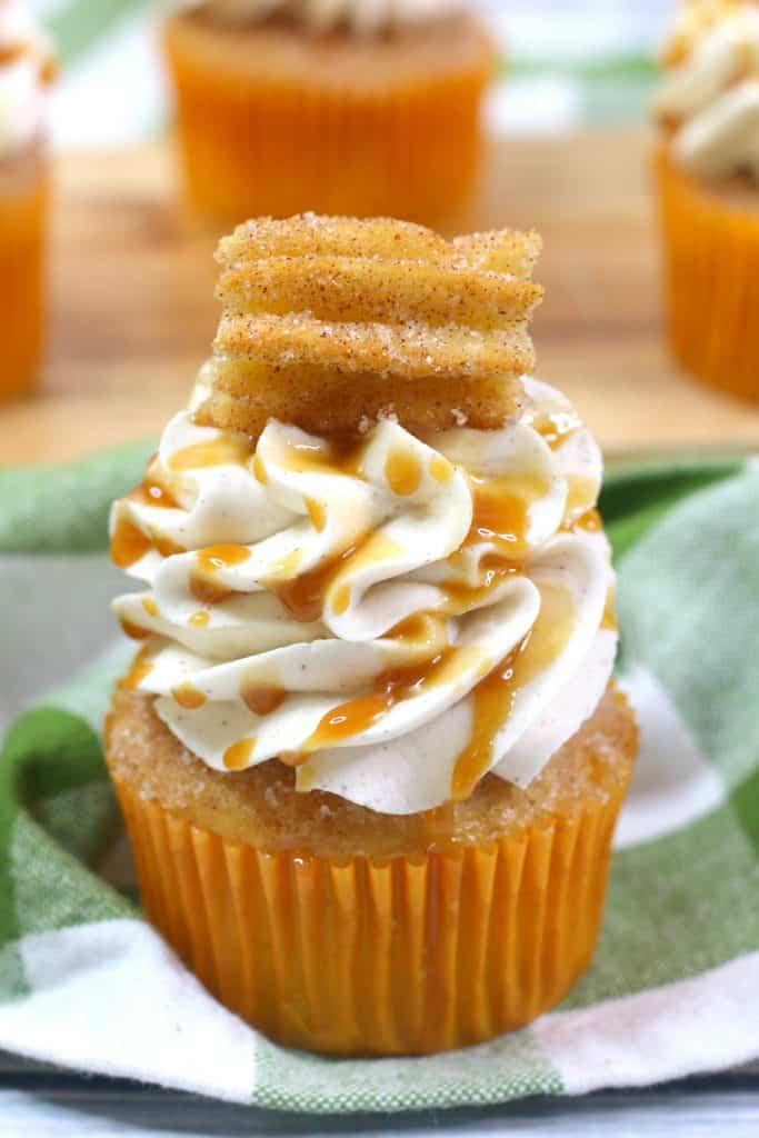 Churro Cupcakes