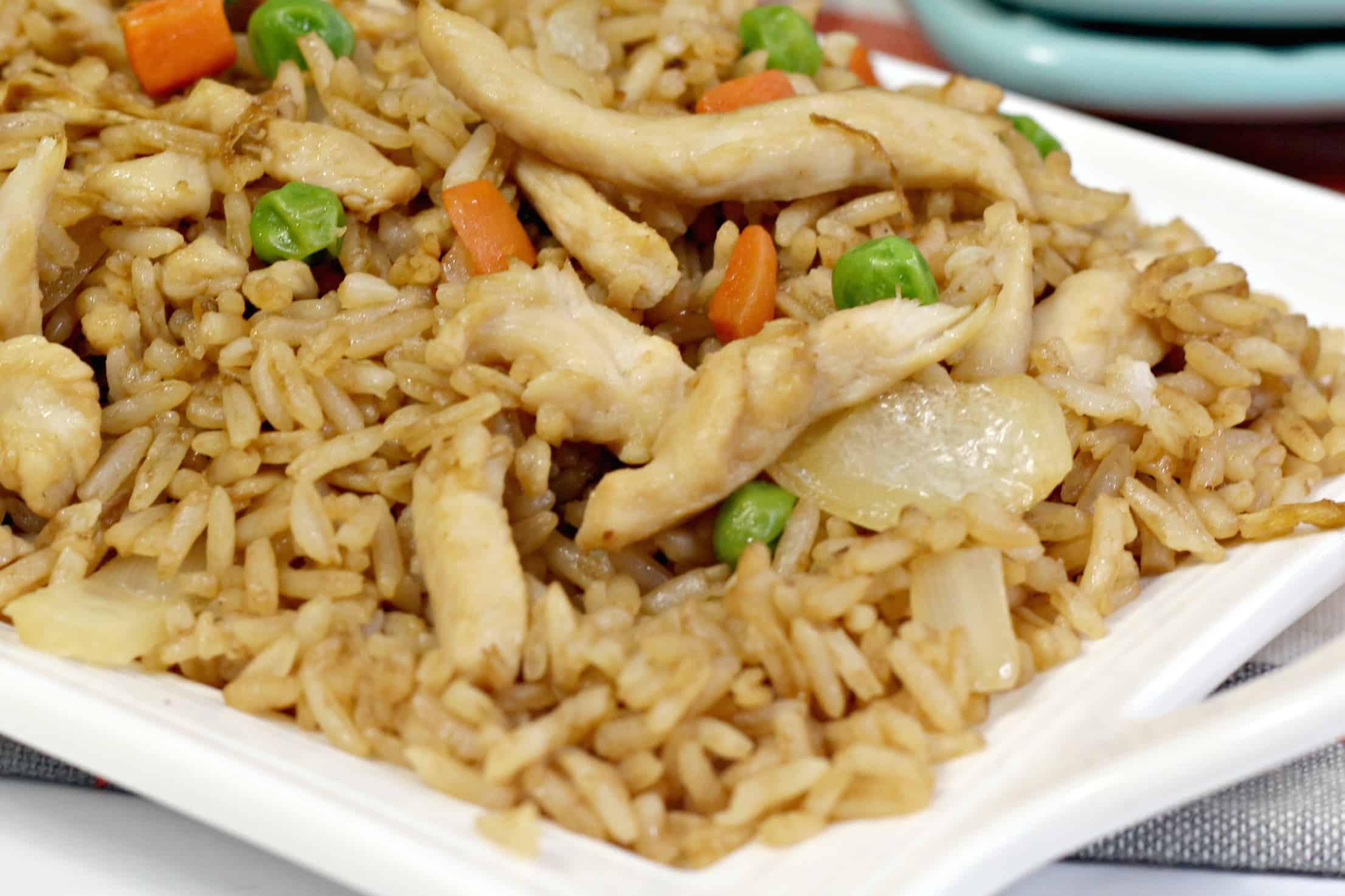 Close up of Chicken Fried Rice
