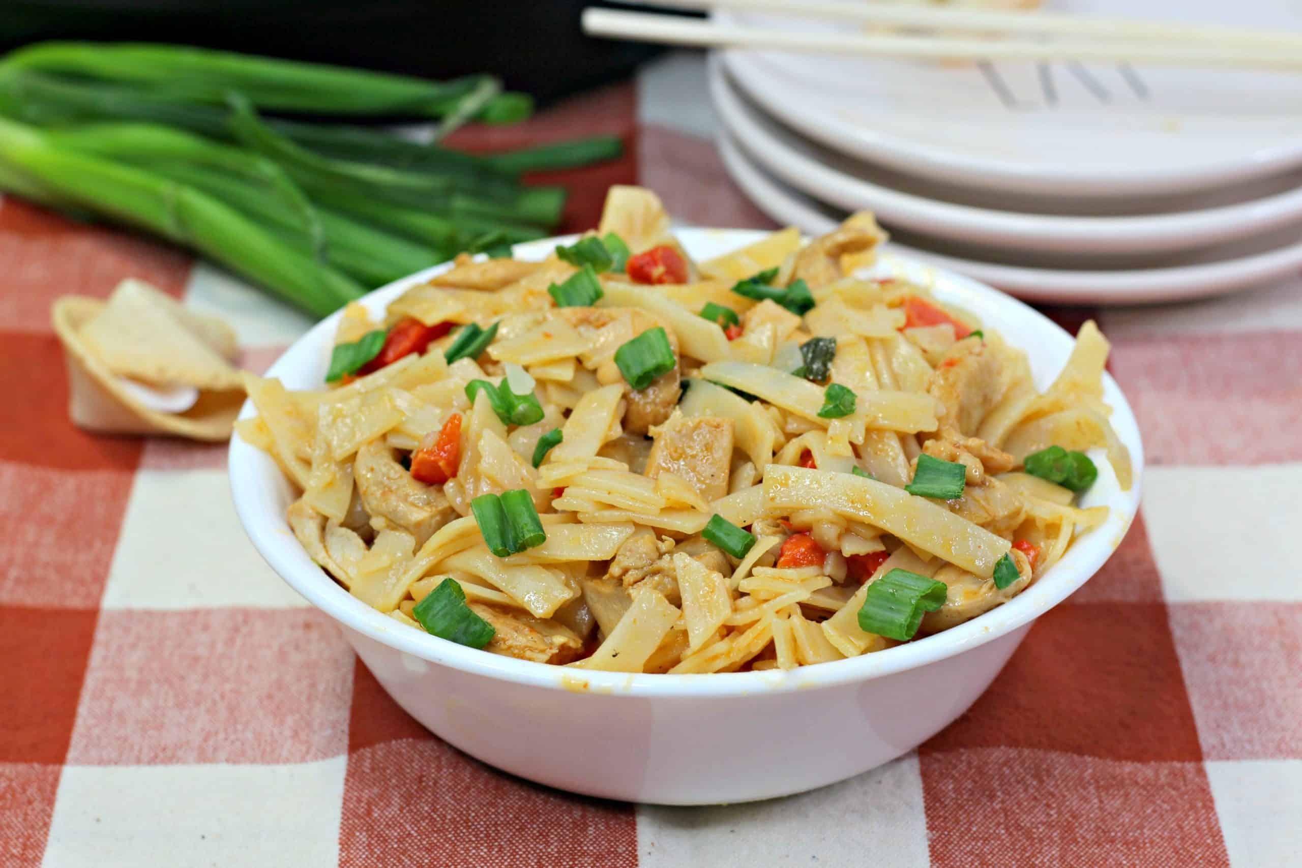 Thai Noodles in bowl
