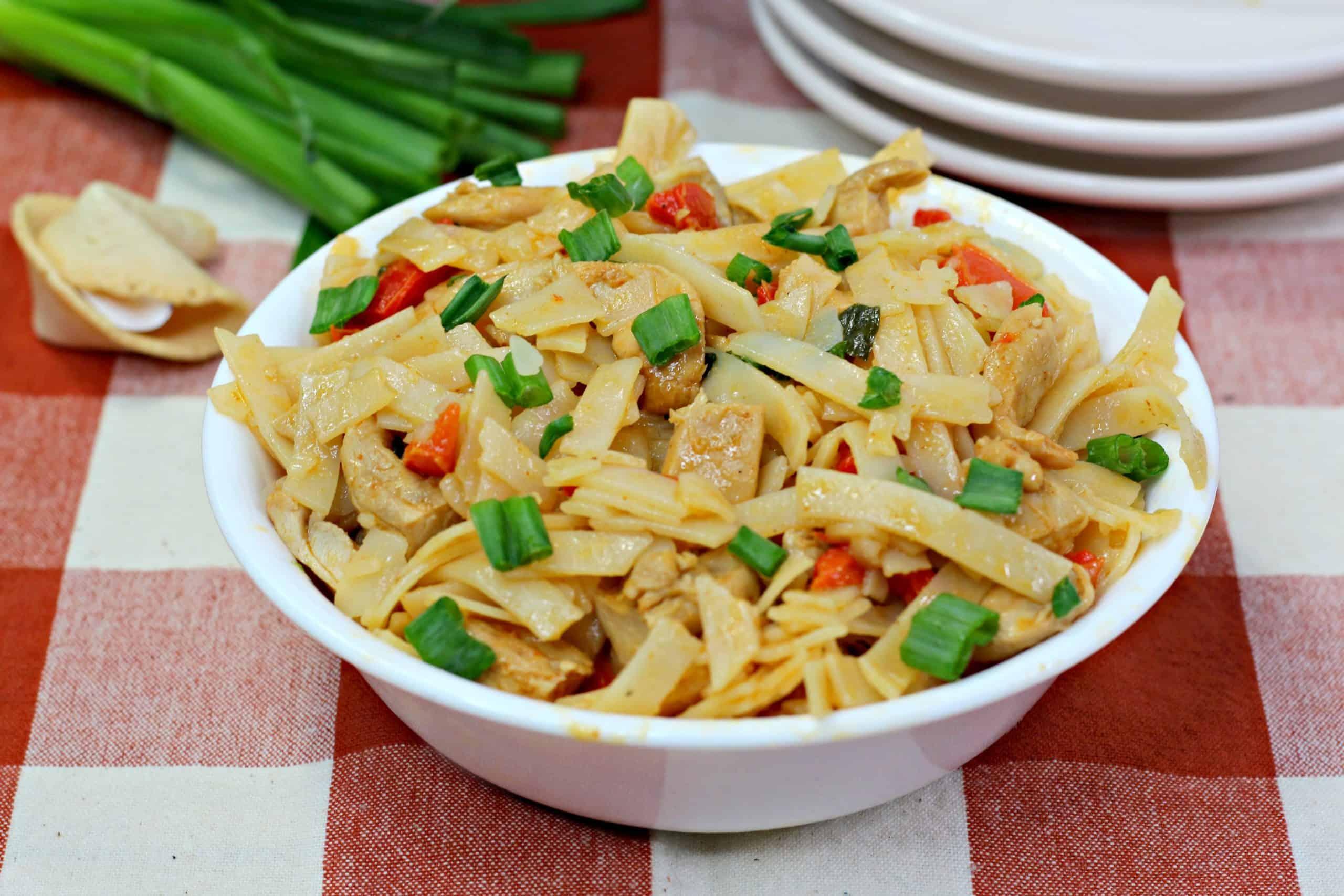 Close up of Thai Drunken Noodles