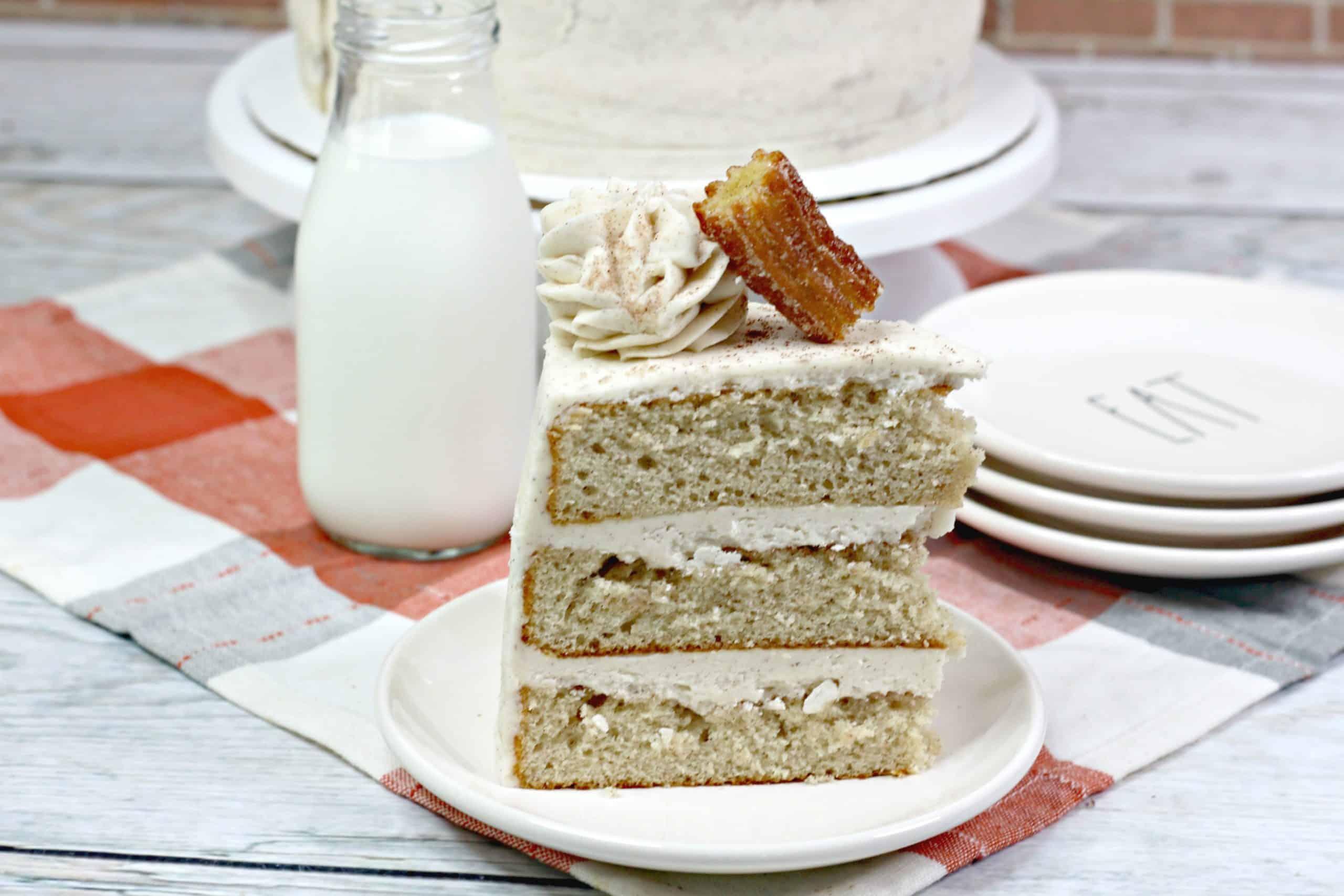 churro cake slice
