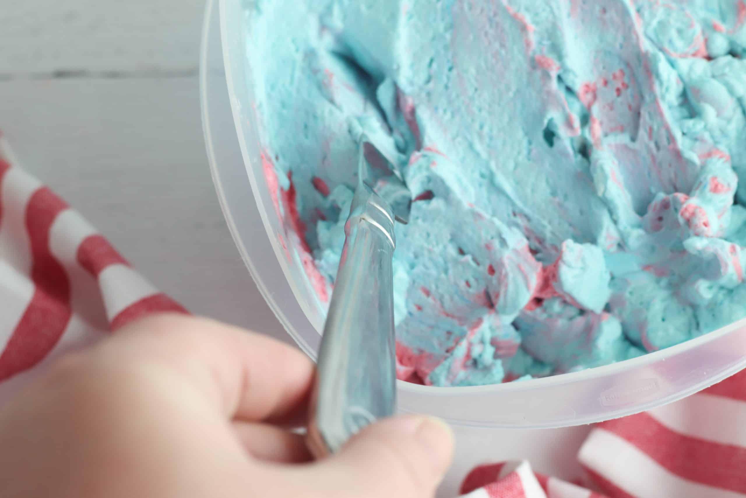 Kool Aid Ice Cream in Freezer Container