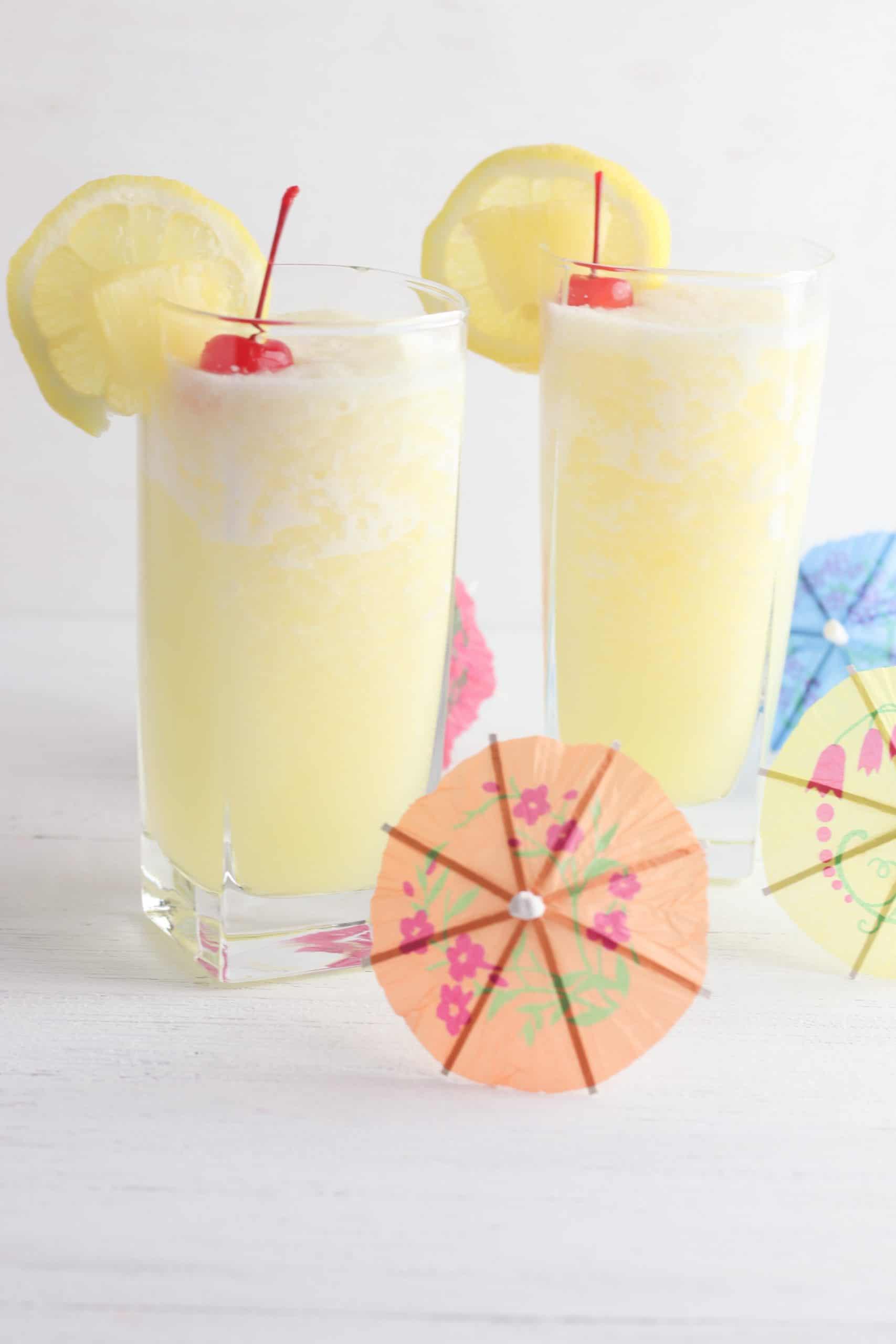 Frozen Pineapple Lemonade Glass