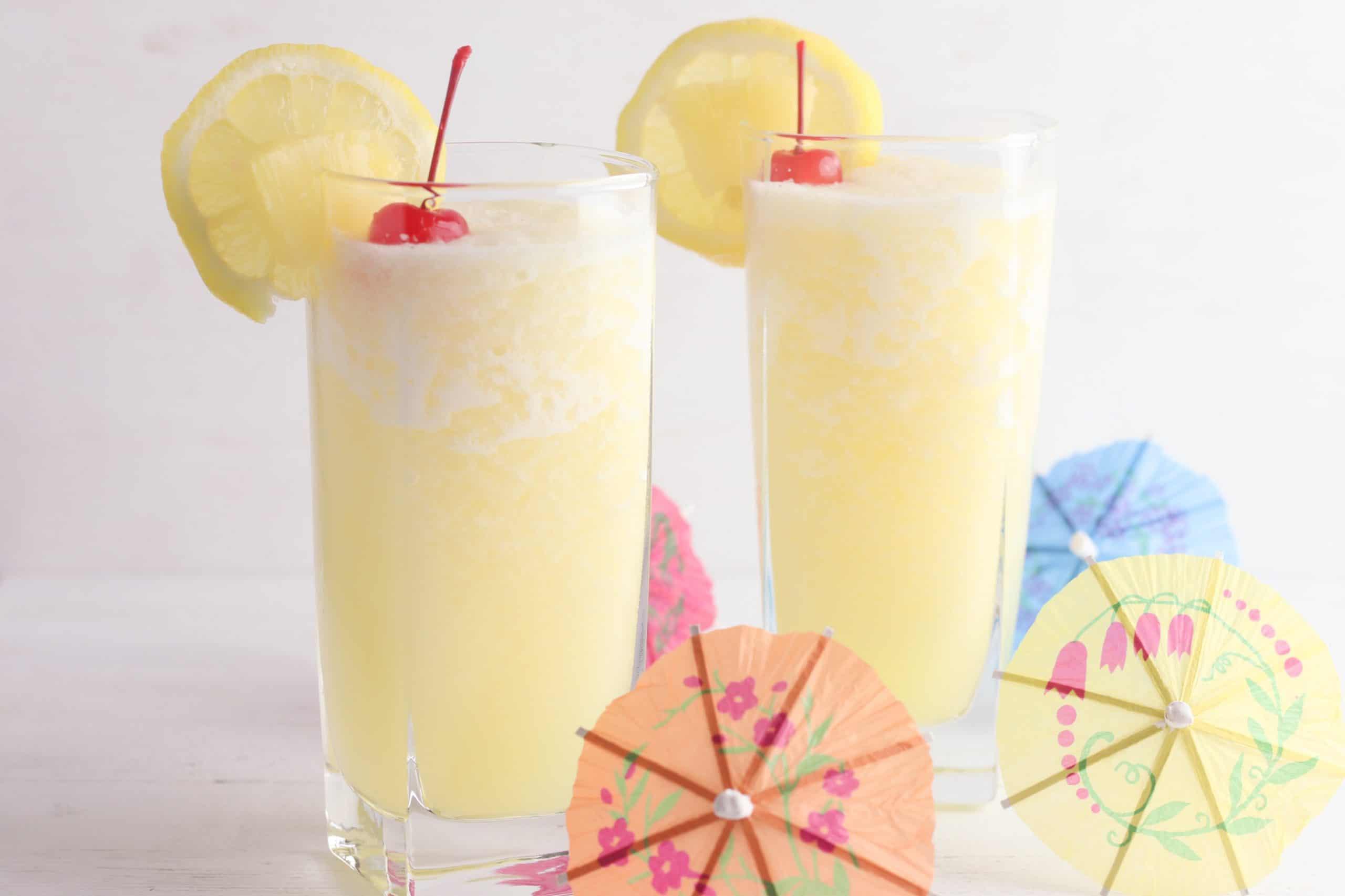 Frozen Pineapple Lemonade in Glass