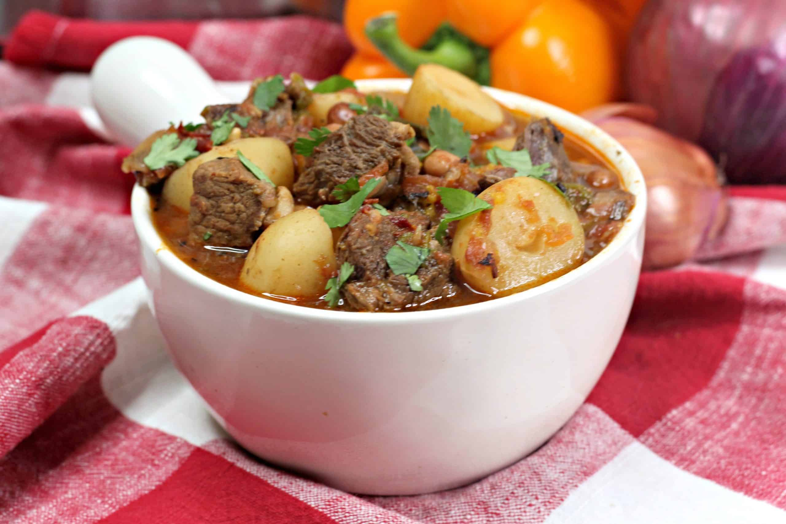 Mexican Beef Stew in bowl