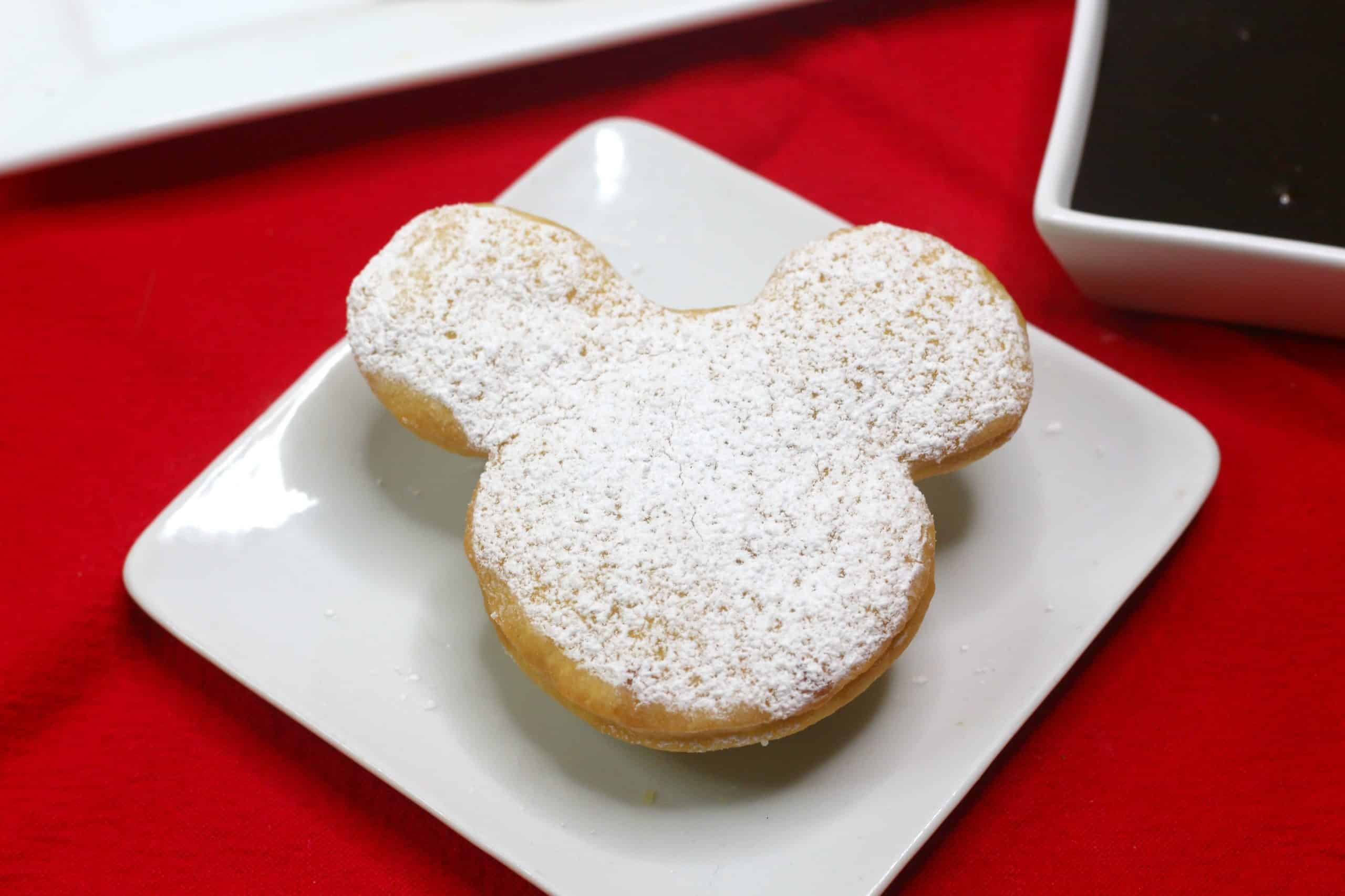Mickey Beignets on plate