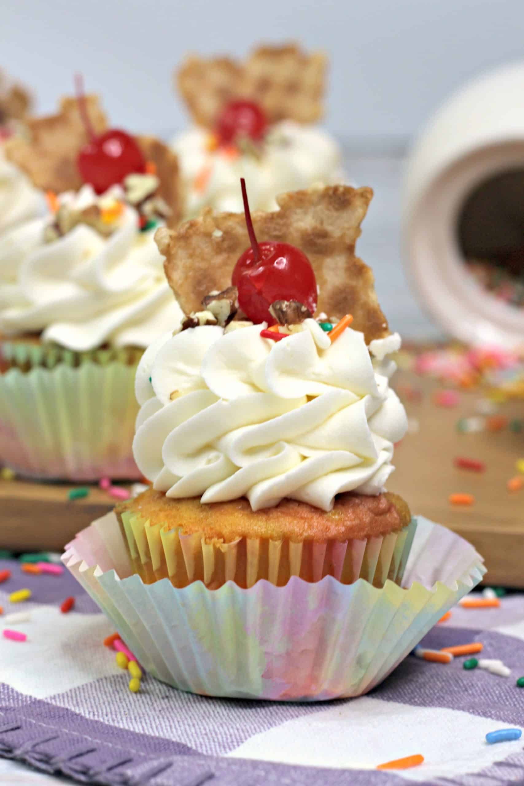 sherbet cupcake