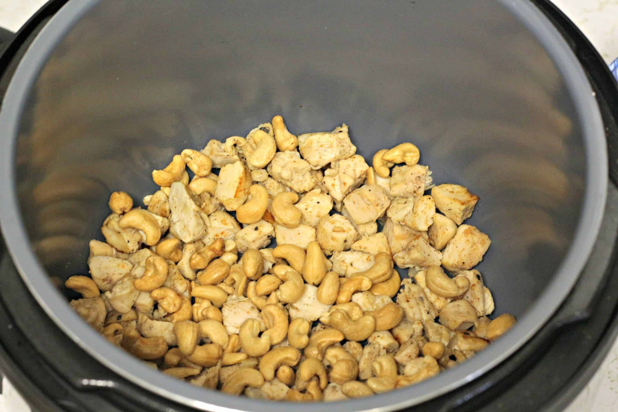 Chicken and Cashews in Instant Pot