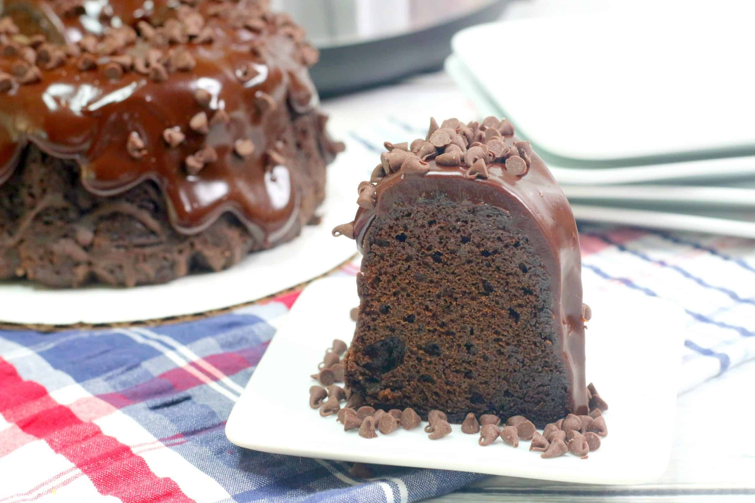 Triple Chocolate Cake Slice