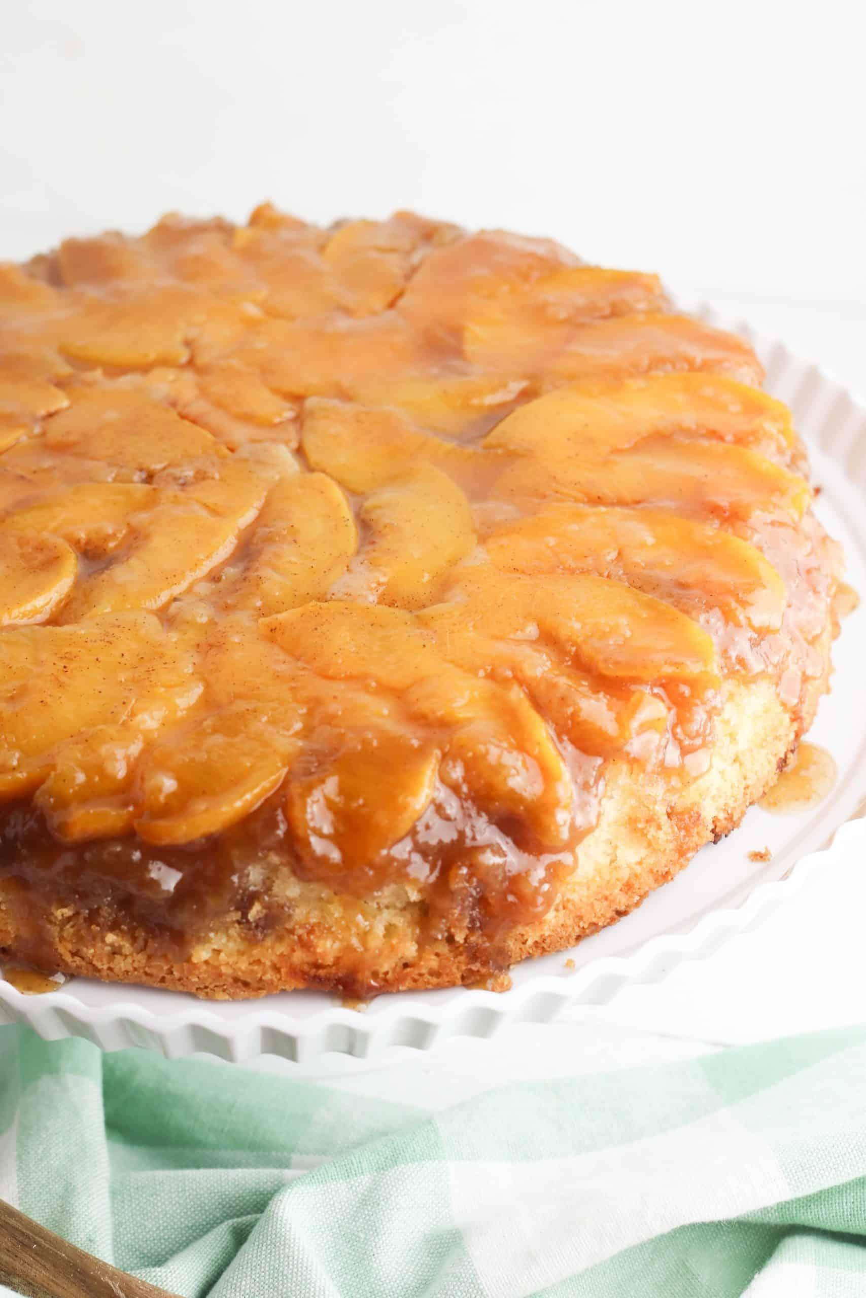 Whole Peach Upside Down Cake
