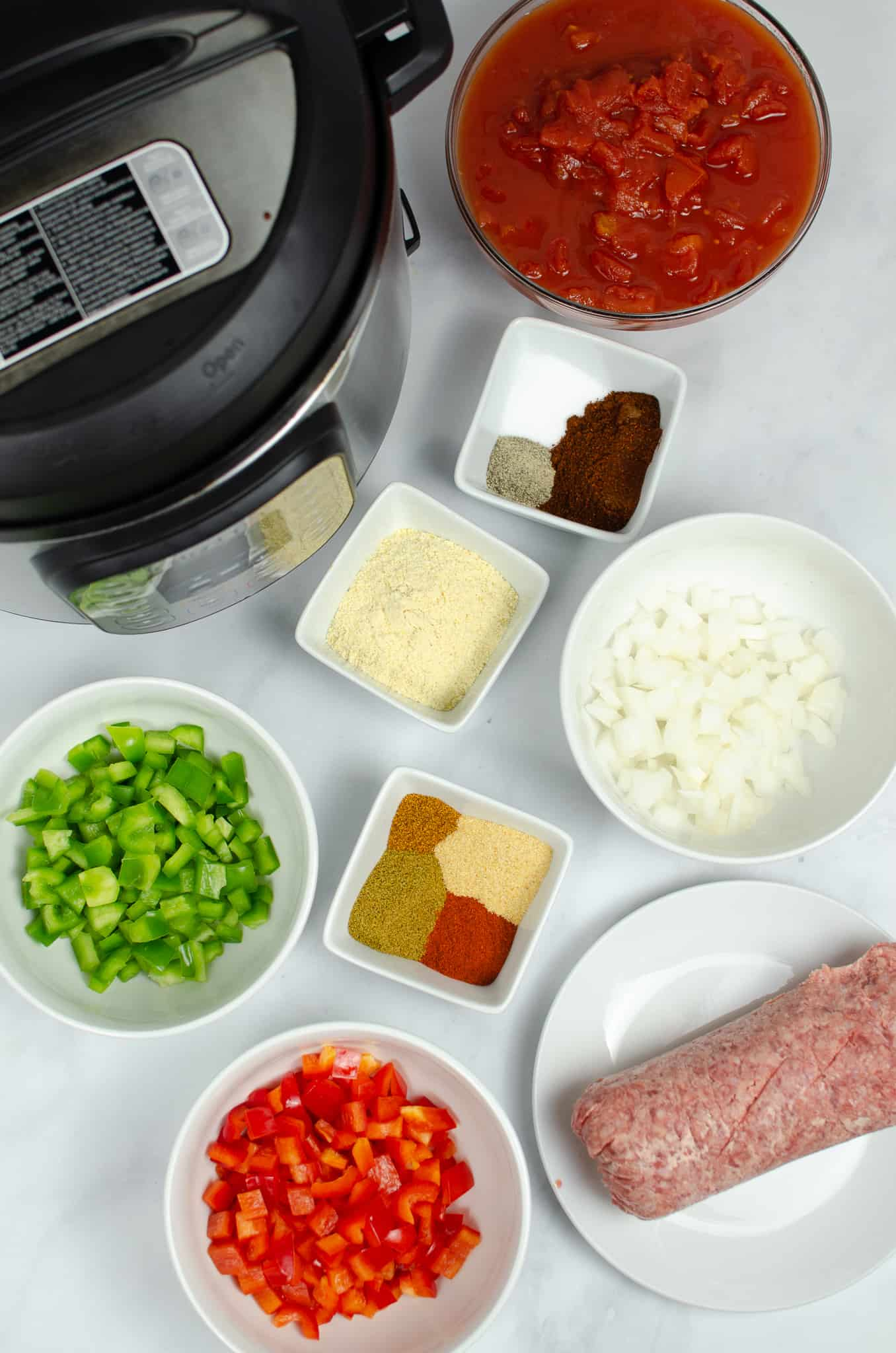 Ingredients and Instant Pot