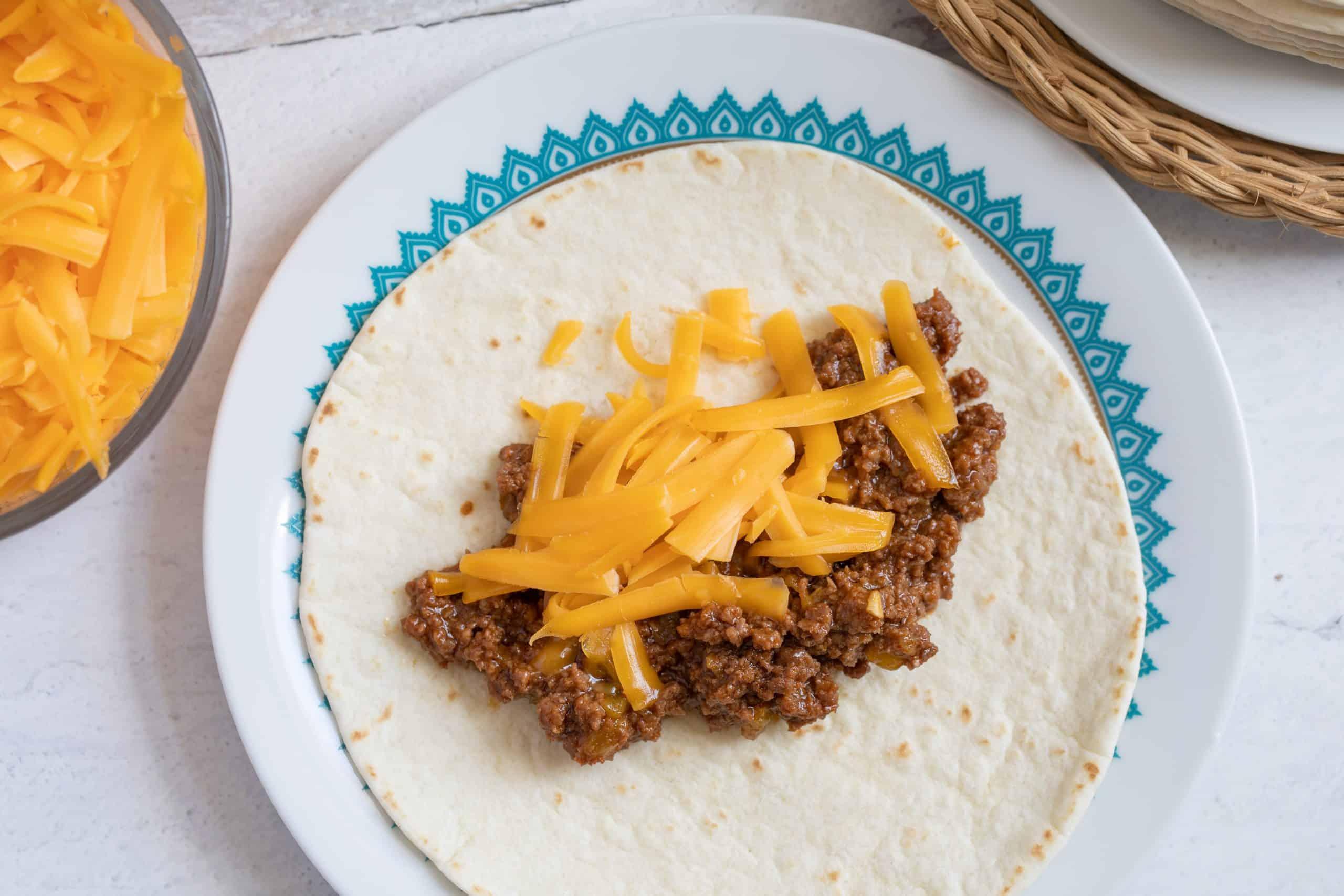 Unrolled Cheesy Beef Enchiladas