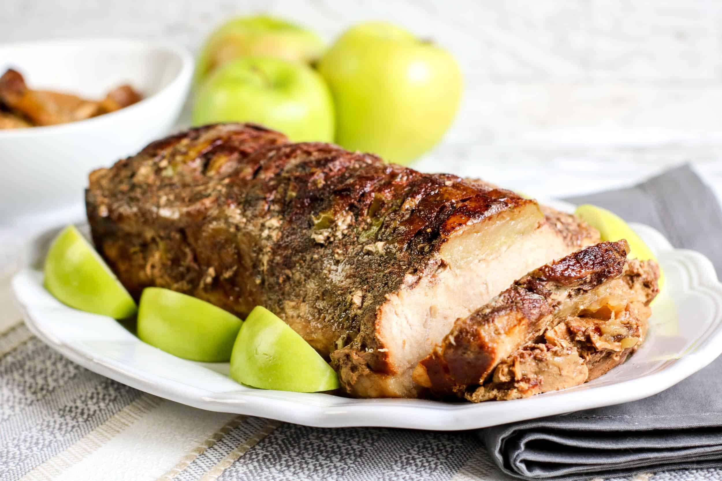 Slow Cooker Apple Pork Loin
