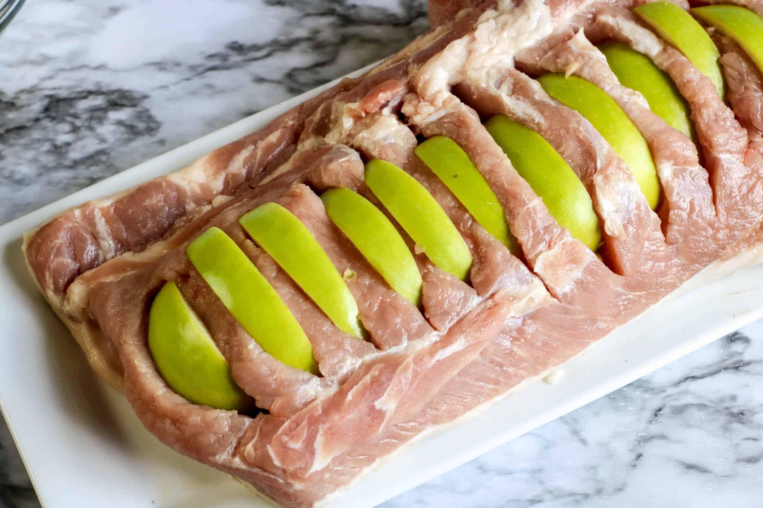 apples in pork tenderloin