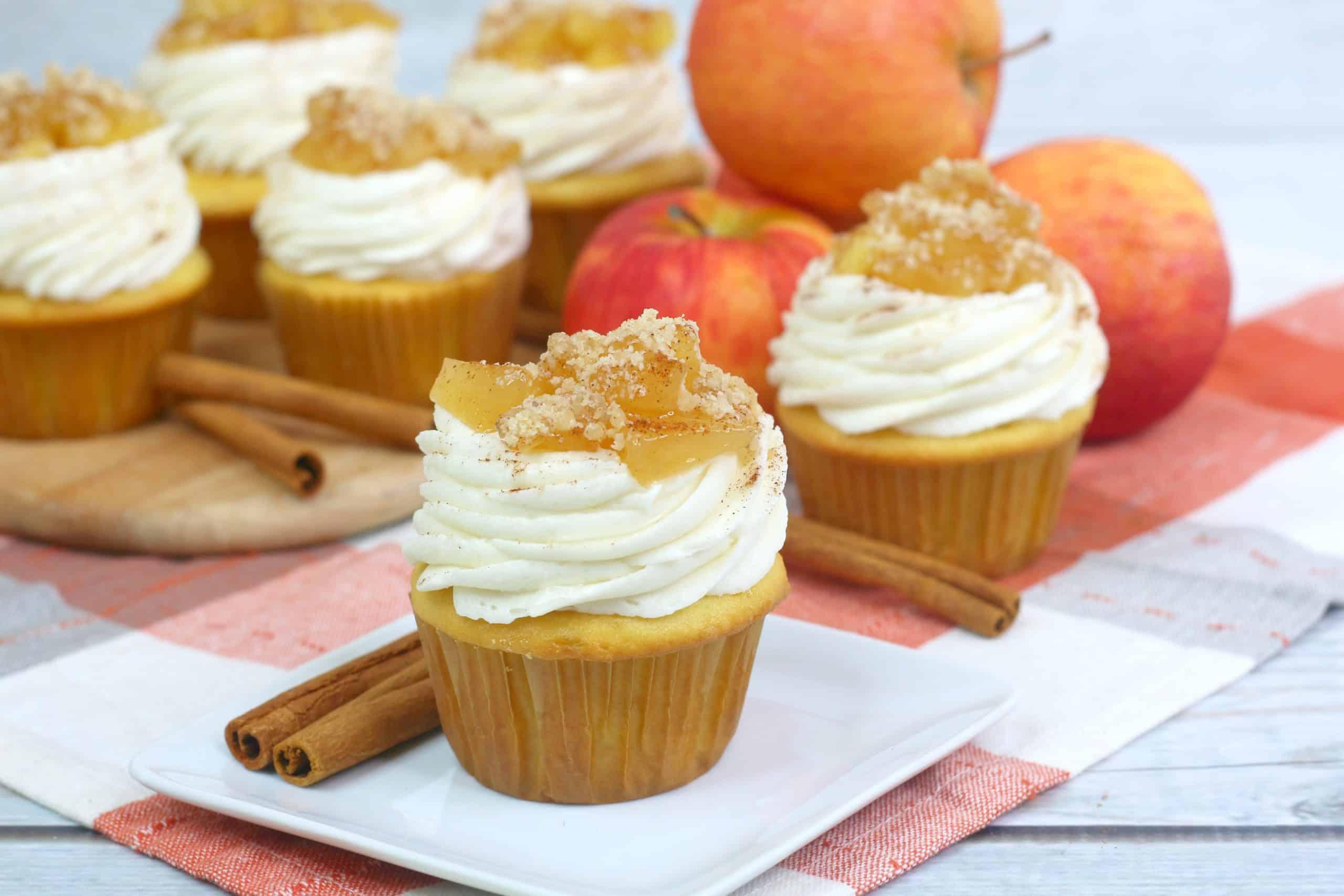 Apple Pie Cupcakes on plate