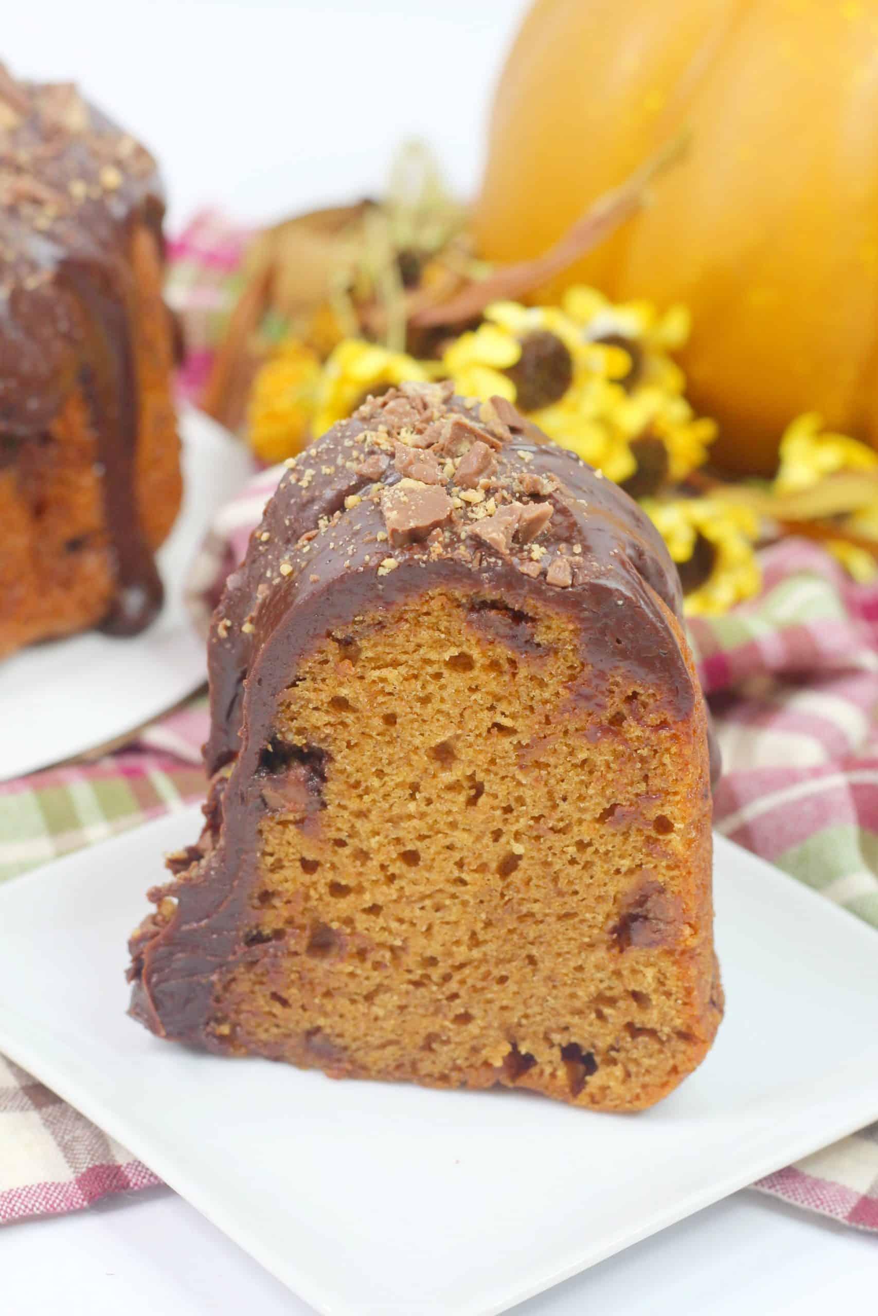 Pumpkin Bundt Cake sliced