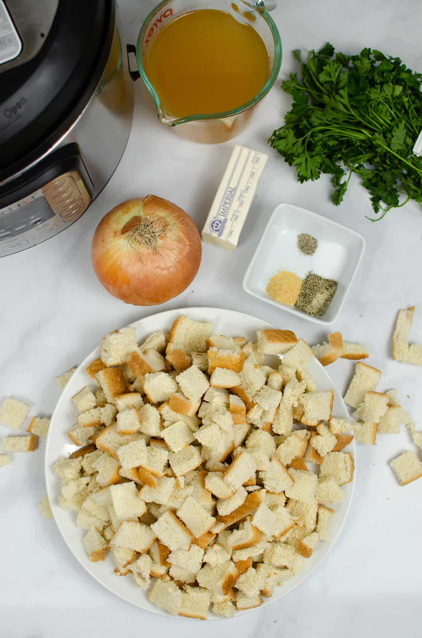 Ingredients for Instant Pot Stuffing