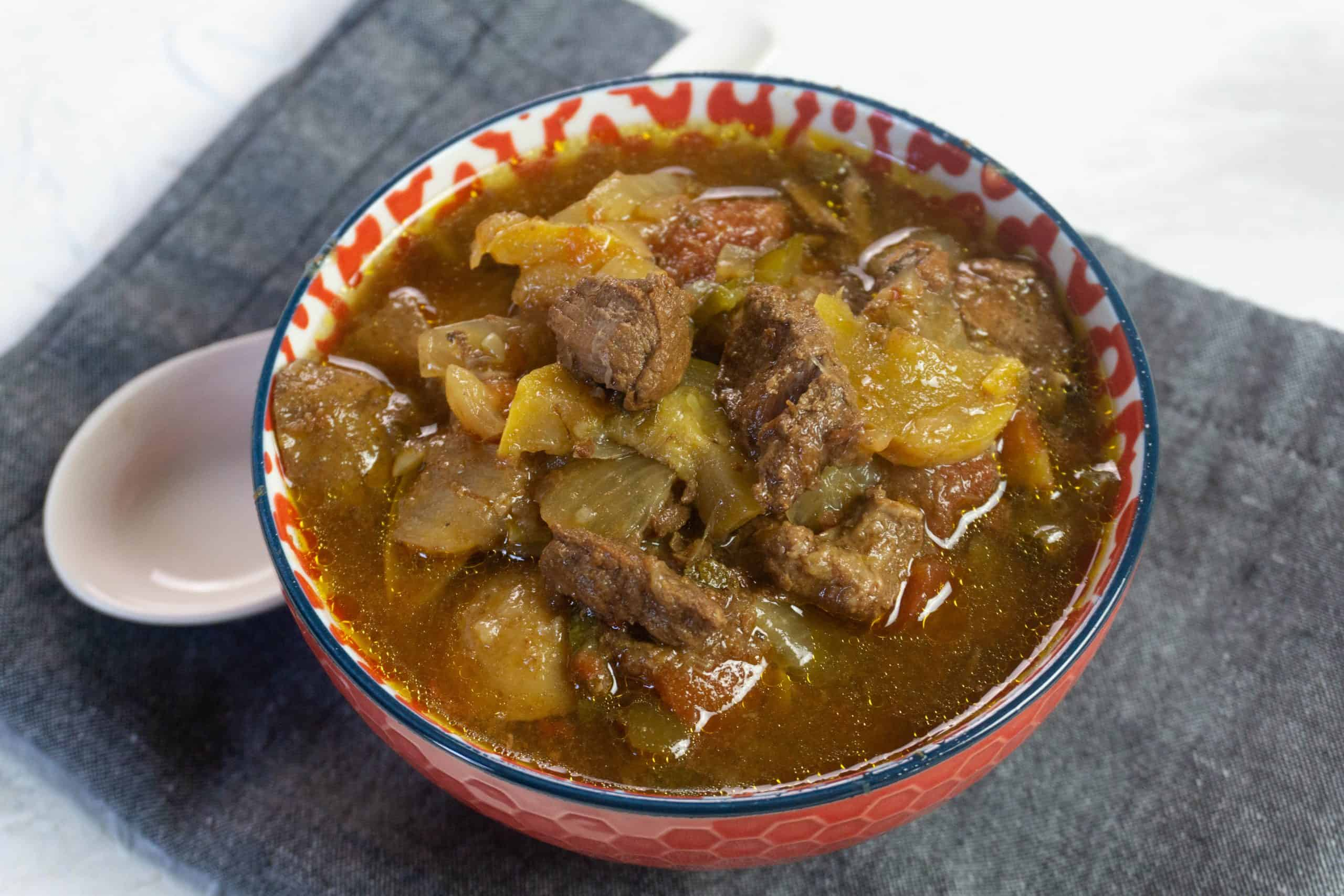 Tuscan Beef Stew in a bowl