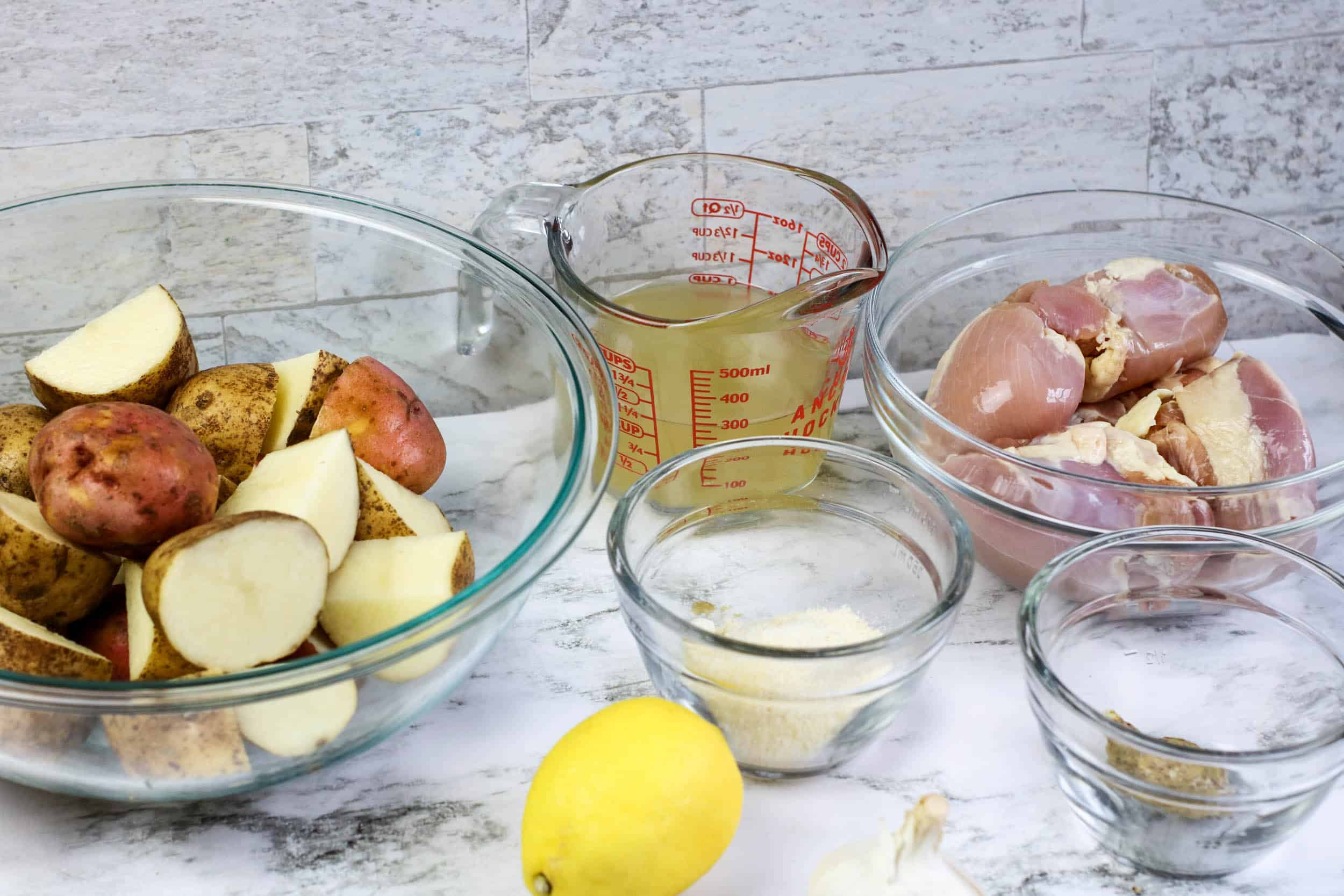 ingreidents for Instant Pot Chicken Thighs