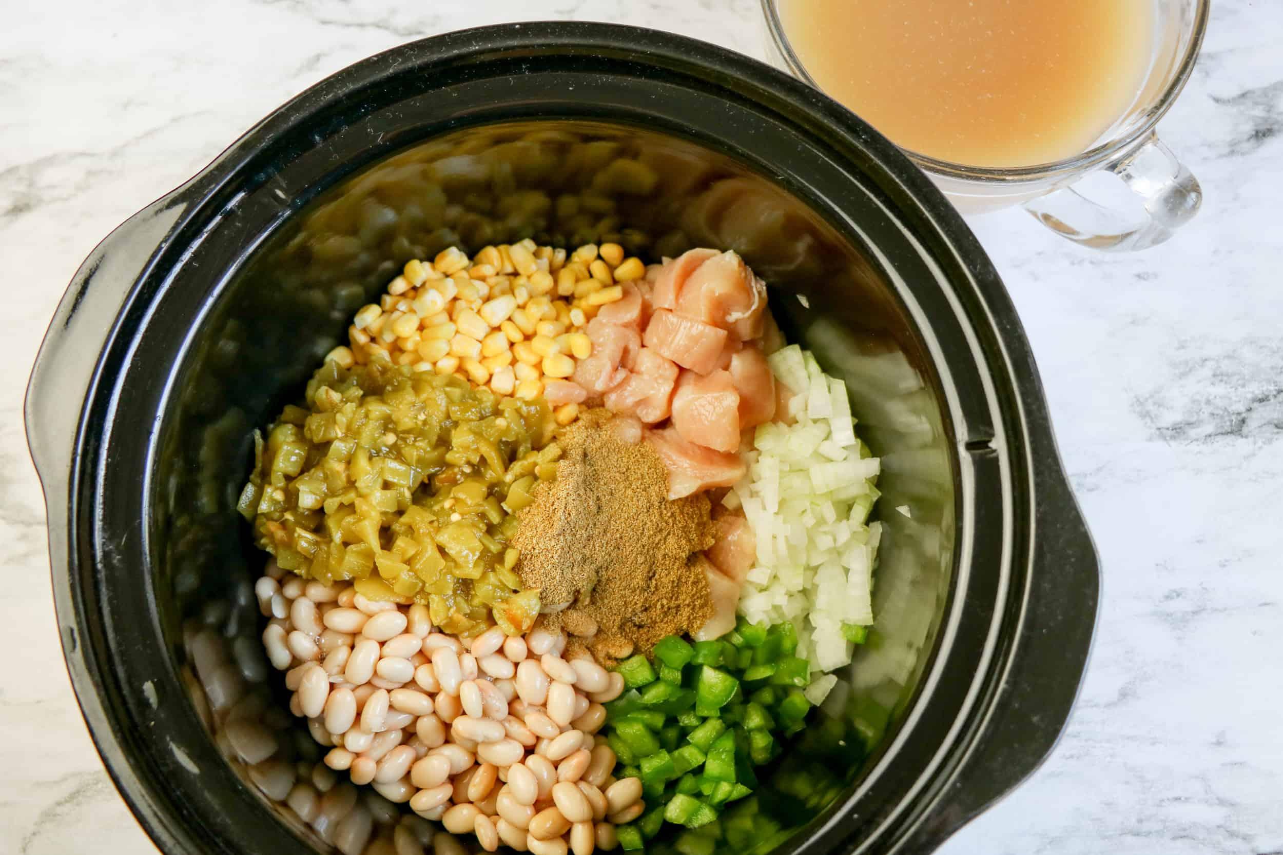 ingrdients in slow cooker