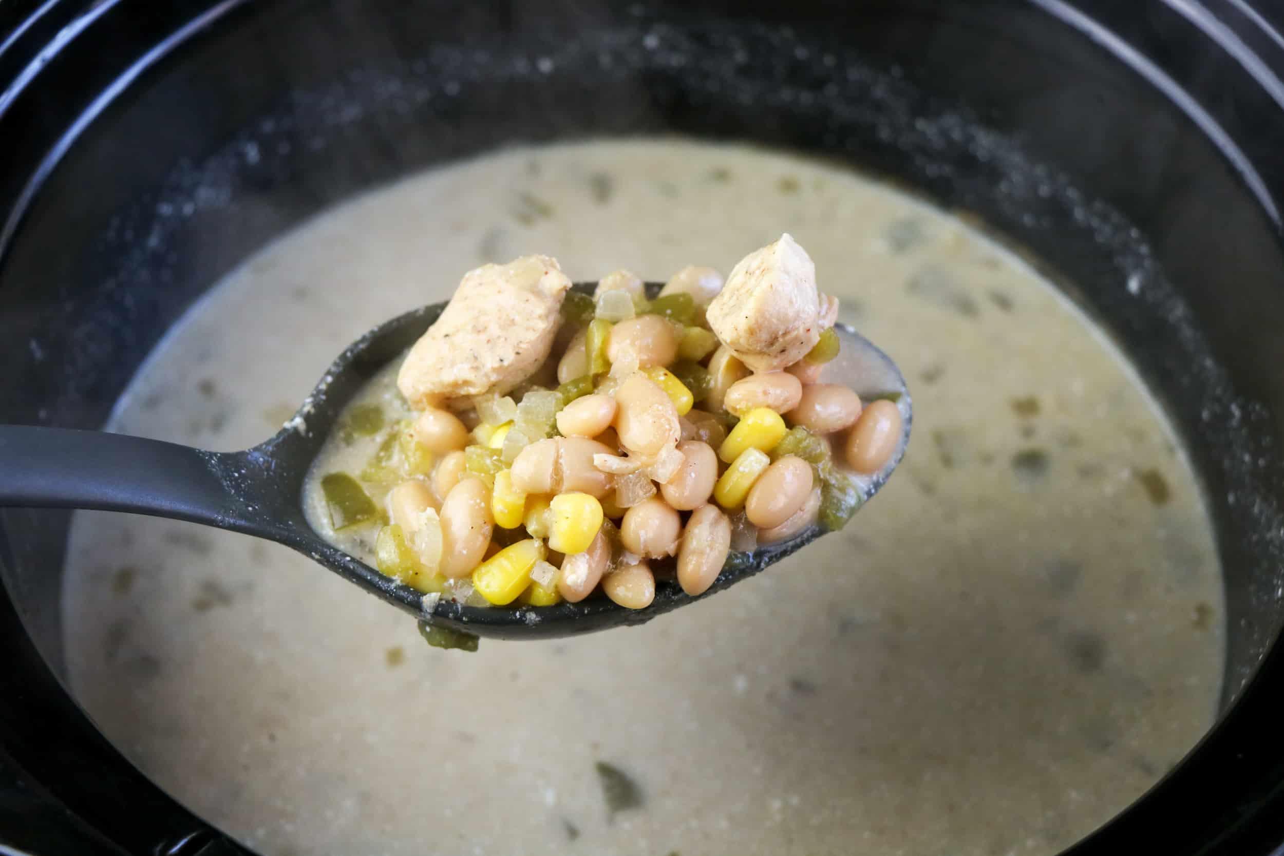 spoon of chicken enchilada soup