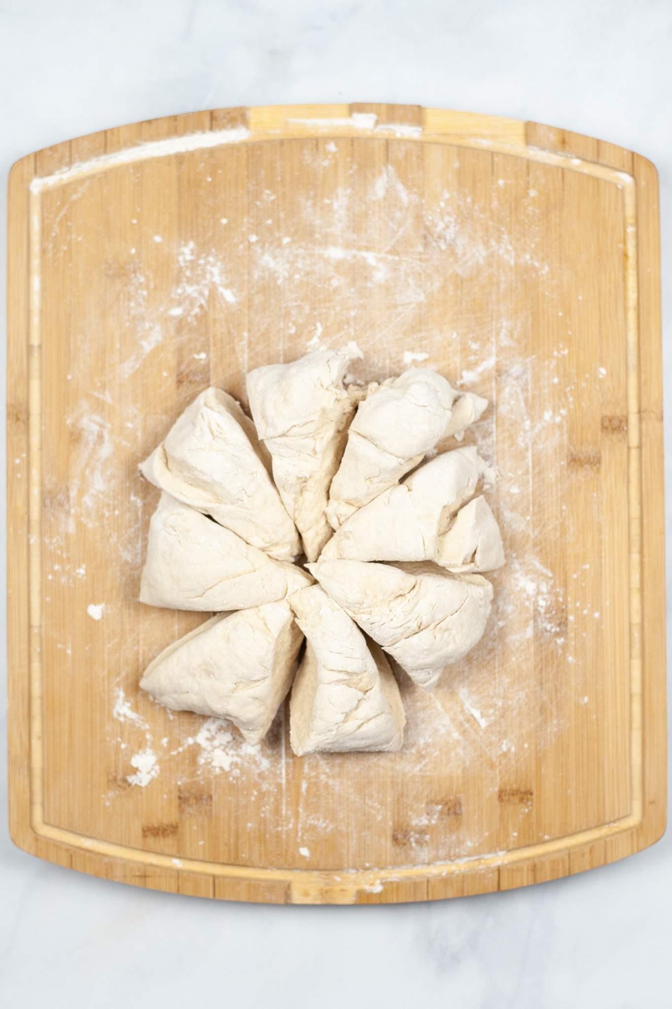 dough cut into shapes