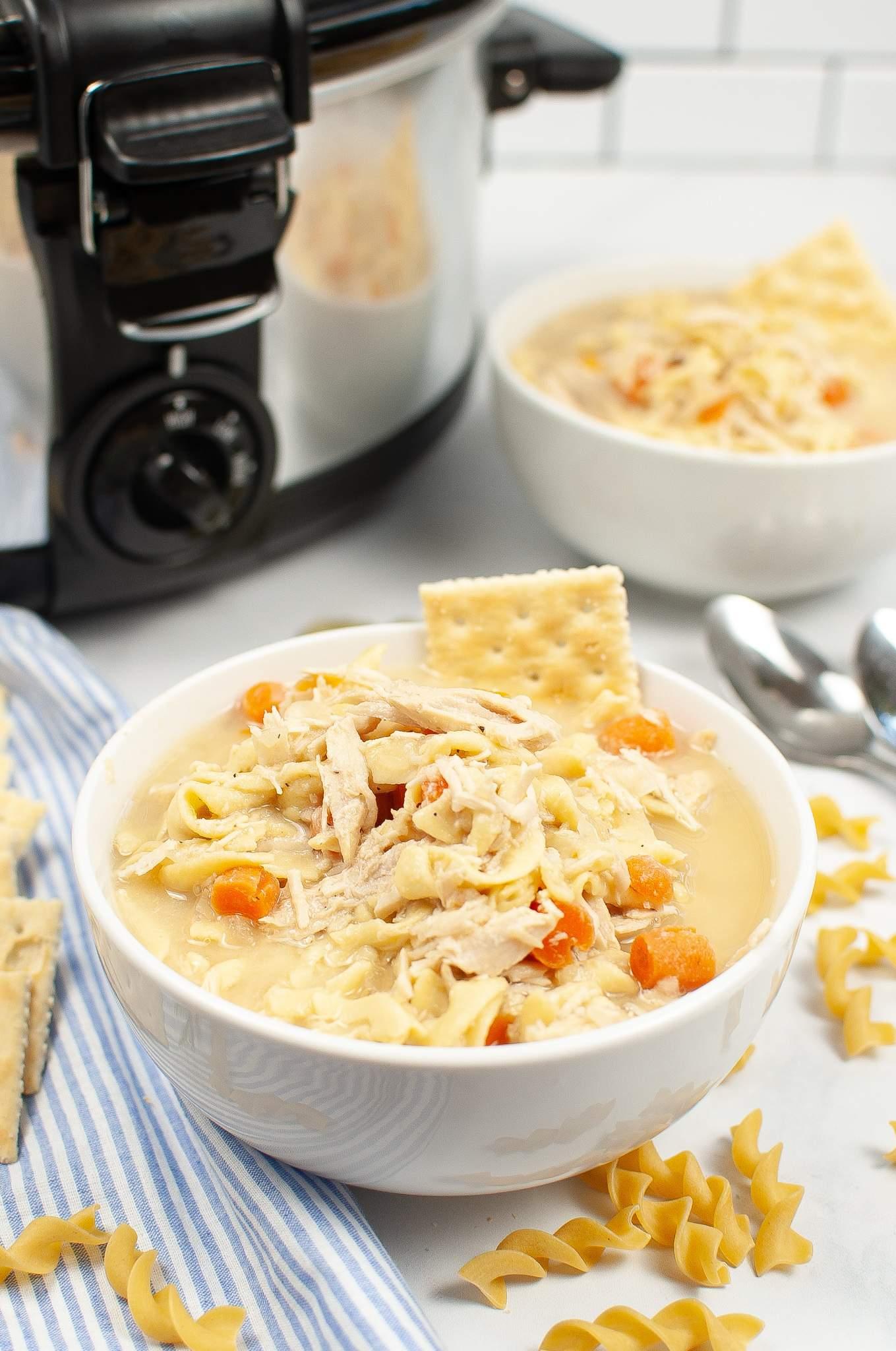 Slow Cooker Turkey Noodle Soup
