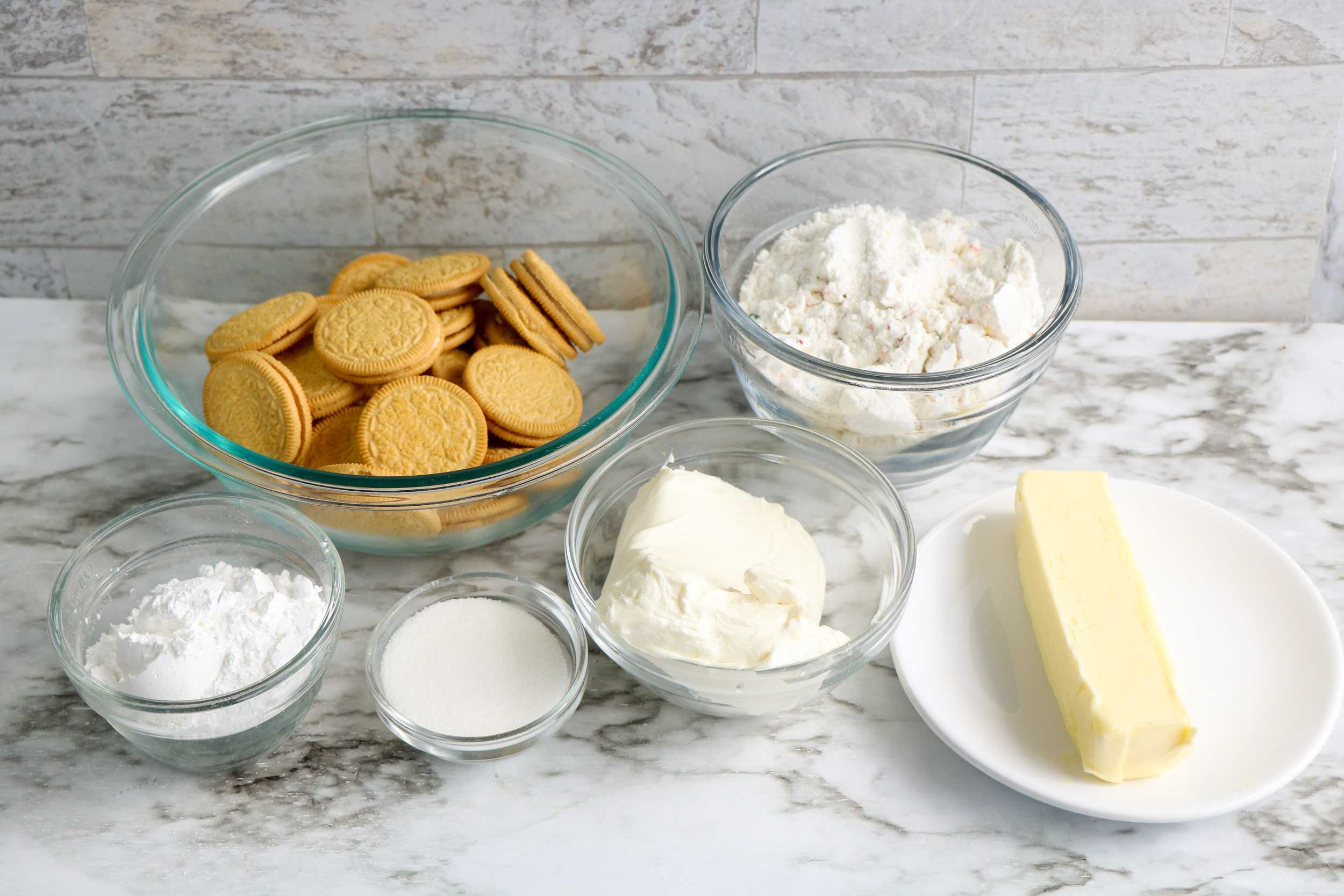 Ingredients for Funfetti Cheese ball