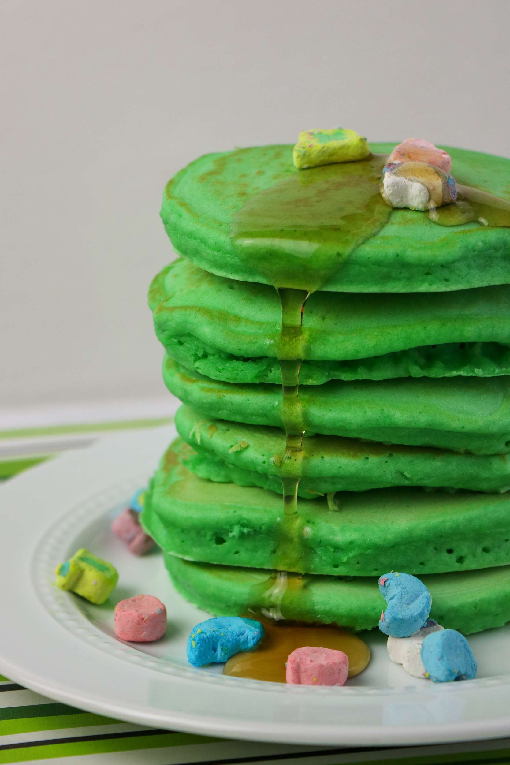 Stack of Lucky Charms Pancakes