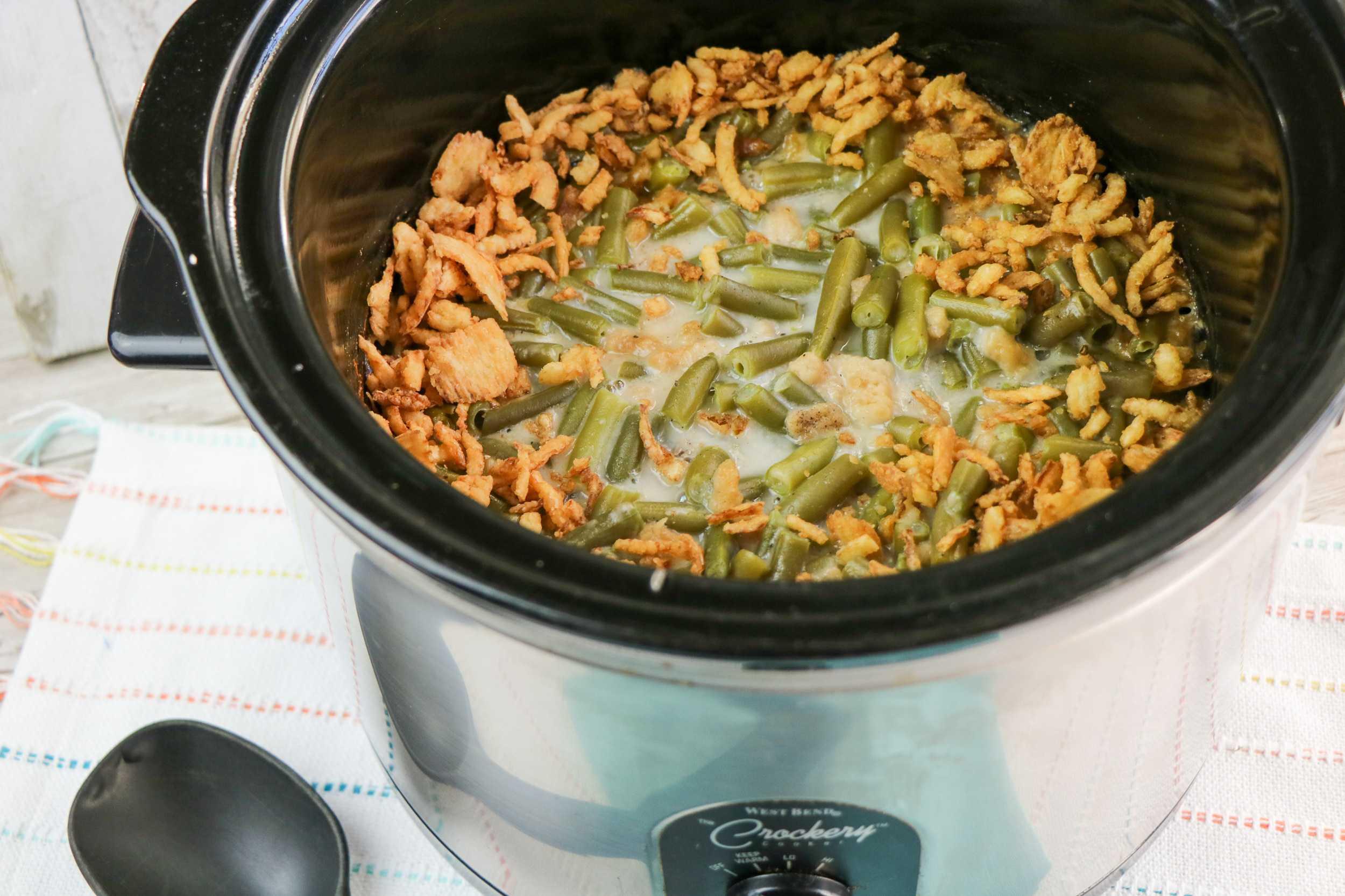 Slow Cooker Green Beans Casserole