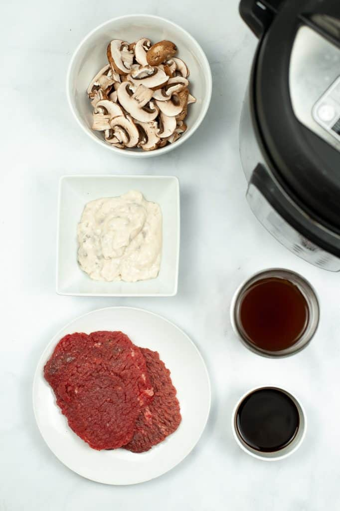 Instant Pot Salisbury Steak ingredients